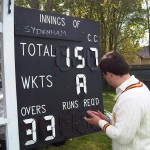 Matt working out the Krypton Factor style scoreboard